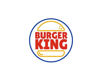 Burger King logo design logo design vector flat design illustration