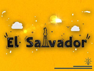 El Salvador logo flat flatdesign flat illustration design vector illustration flat design