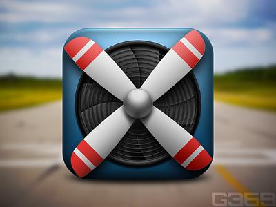 Propeller iOs Icon @x2 propeller plane aviation aeroplane ios iphone icon