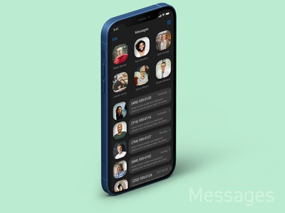 iPhone Messages App Redesigned applicaiton app application apple ui app design figma ui design minimal design iphone