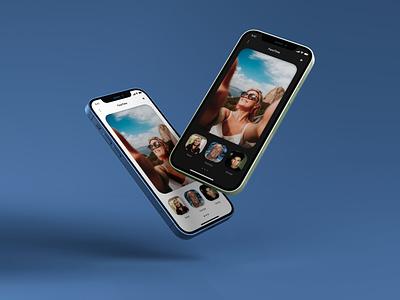 Facetime App Redesigned applicaiton app application ui apple app design figma ui design minimal design