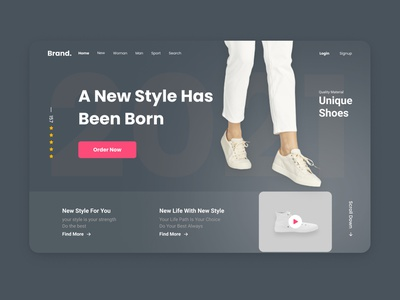 shoes store - Website branding logo motion graphics graphic design 3d animation ui