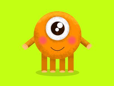 cute monster orange monster club cute art illustrator cute monster