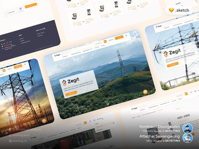 Zegit: Electrical Tools Marketplace web ux design website design ui