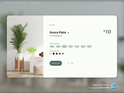 Plant Center web flat minimal website design design ux ui