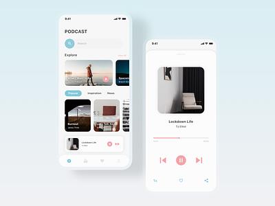 Podcast app ux ui app design