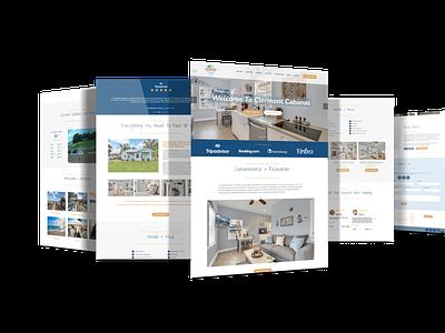 Clermont Cabanas Vacation Rental graphic design web design branding