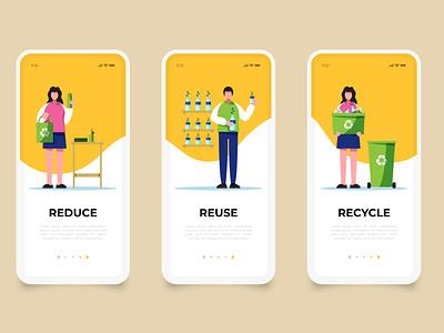 Garbage app green recycle graphic re use dust dustbin mobile app design mobile design mobile app mobile ui graphic design mobile app application garbage garbage app