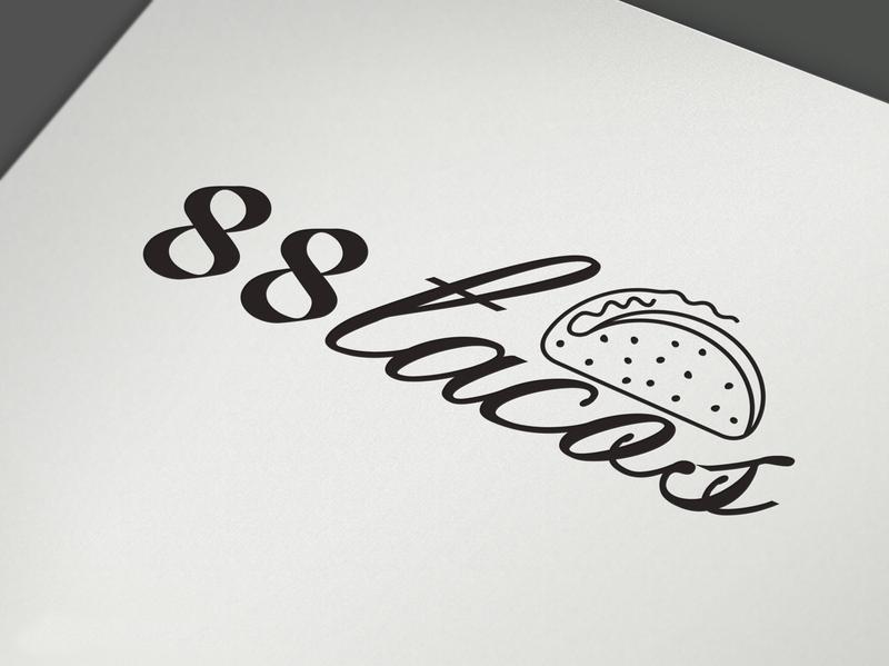 Tacos modern minimal flat art illustration illustrator typography icon logo design logotype logo vector design