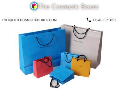 Custom Cosmetic Paper bags custom type printed cosmetic packaging cosmetic