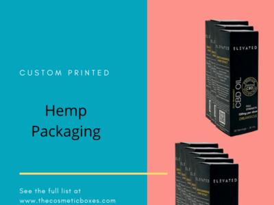hemp packaging printed custom custom boxes