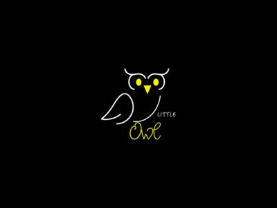 Little owl - logo design!! illustration design concept branding logo