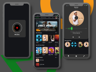 Music Aplikasi (Dark Mode)
