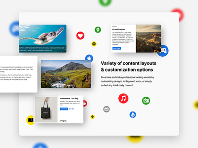 Education platform – One of the sections of a landing page