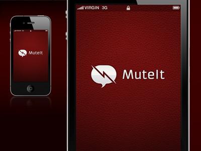 Mute It - Splash Screen mobile app iphone ipod ux ui splash