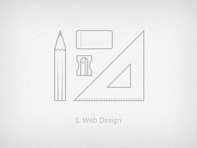 Design web design icon illustration tools