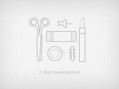 Development web development icon illustration tools development