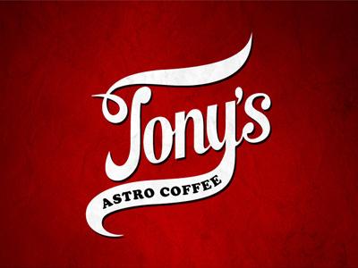 Tony's Astro Coffee coffee typography