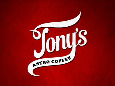 Tony's Astro Coffee coffee typography