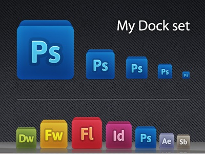 My Dock Set icon adobe set