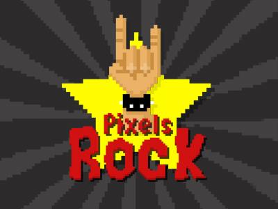 Pixels Rock pixelated rock retro gaming oldschool