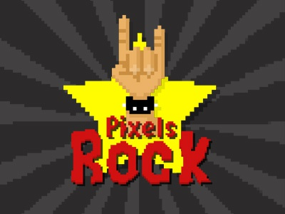 Pixels Rock pixelated rock retro gaming oldschool