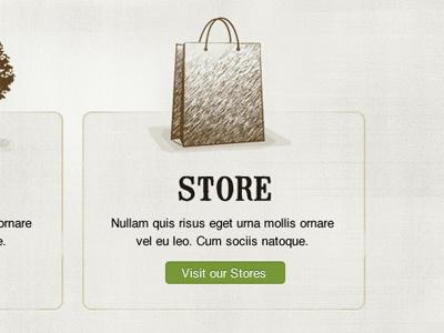Store sketch illustration web design