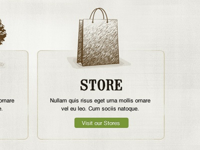 Store sketch illustration web design
