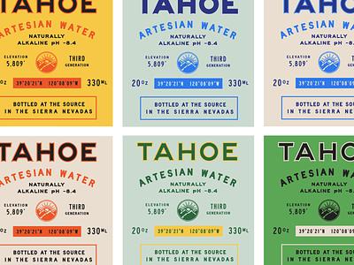 Tahoe Artesian Water 2 california spring artesian visual identity identity design label design labels packaging branding tahoe water bottled