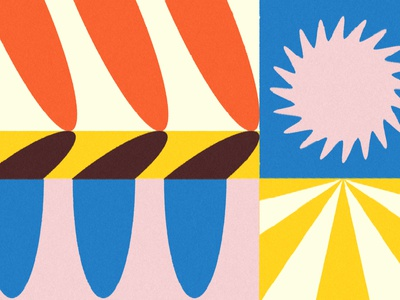 Color & Shape Play shadow sunshine desert sun shape color label design packaging cpg branding design identity branding