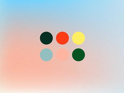 Gradation 04 color mixing flat noise sky blur gradient color gradient identity branding