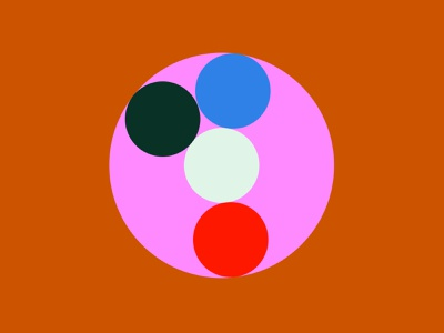 Color Funk 2 face circles of color color palette color play