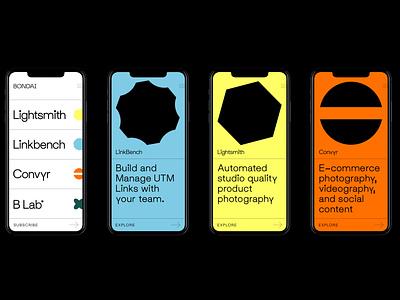 BONDAI Brand Identity pt 1 typography visual identity logo iconography incubator product tech website mobile mobile design identity branding
