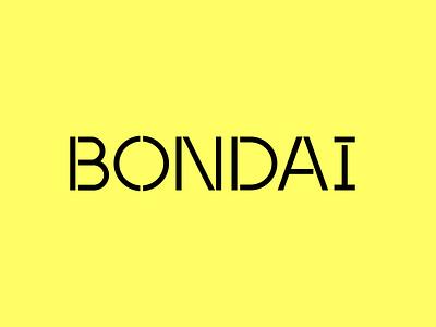 BONDAI Brand Identity pt 3 parent company iconography incubator product tech logotype stencil wordmark logo branding design identity branding