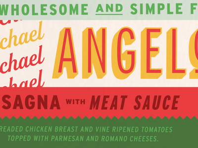 Frozen 🇮🇹  Foods food color typography label branding design identity label design cpg packaging branding