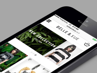 Belle & Sue Mobile Site Redesign bellesue mobile ui ux iphone web design web shopping ecommerce redesign fashion store