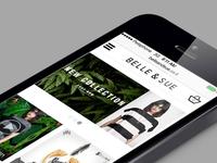 Belle & Sue Mobile Site Redesign