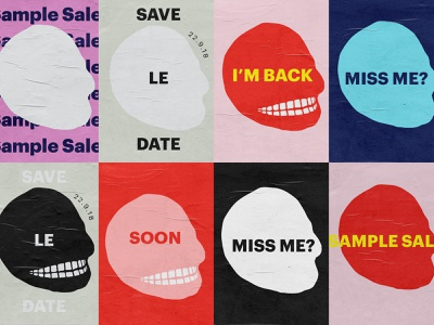 Cheap Monday Sample SaleTeaser Posters typogaphy poster art teasers fashion poster graphic  design cheap monday