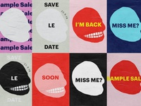 Cheap Monday Sample SaleTeaser Posters
