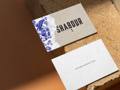 Shabour Paris - business card branding concept logotype logodesign logo floral botanic pattern stationary brand identity branding design branding paris jerusalem assaf granit shabour paris shabour restaurant branding restaurant bussines card