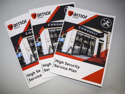 Brochure Design for Warrior Doors