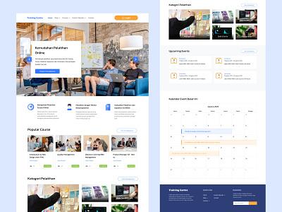 Online Traing Center Ver. 1 training training center web design webdesign websites website figma design blue app uiux ui design uidesign ui