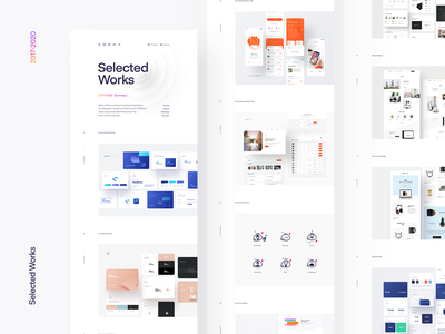 Selected Works 2017-2020 branding logo website ui ux selected works presentation the best of