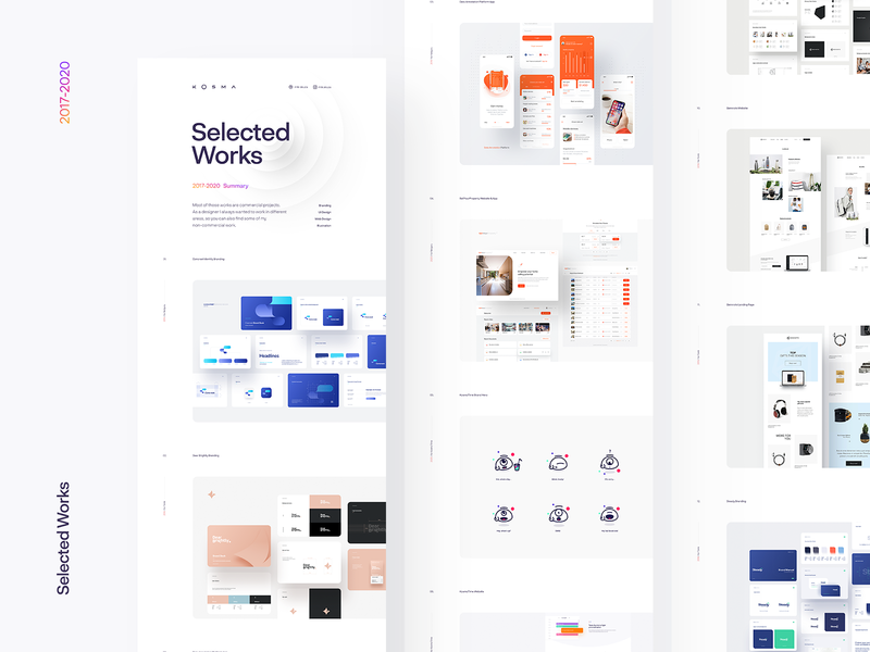 Selected Works 2017-2020 branding logo website ui ux selected works presentation the best of
