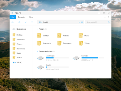 Windows File Explorer (Windows Style from my dream) windows file explorer redesign windows 10 file explorer windows file explorer