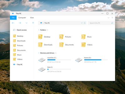 Windows File Explorer (Windows Style from my dream)