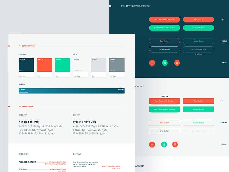 Styles stylesheet typography css style mac vr app styleguide