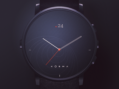 Personal Watchface time hour date ui ux watchface watch