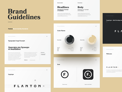 F. ID. colors guidelines pages brand guidelines logo manual brand book brandbook identity black gold