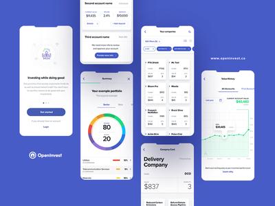 OpenInvest part I iphone x color wheel blue tonik mobile app app invest investing